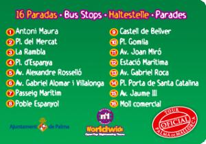 Остановки Туристического автобуса