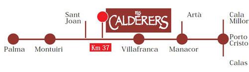 Как добраться до Els Calderers